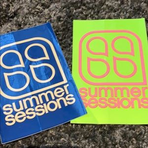 Summer sessions stickers